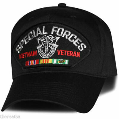 2758b45afd8e2 U.s Military Army Vietnam Veteran Special Forces Hat Official Ball Cap Usa  Made