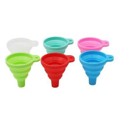 Useful Kitchen Silicone Practical Collapsible Foldable Funnel Hopper Tools H