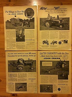 Lot Of 4 Vintage Original 1959 John Deere Tractor Ads  Farm Advertising