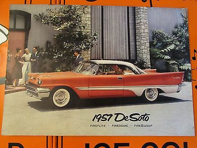 1957 DeSoto Sales Brochure * Specifications * Fireflite * Firedome * Firesweep