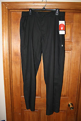 Chef Works New NWT Men's Large Black Chef Pants