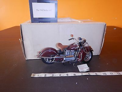 FRANKLIN MINT 1942 INDIAN 442 MOTORCYCLE Bike 1/10 DIE CAST Toy WITH BOX AND TAG