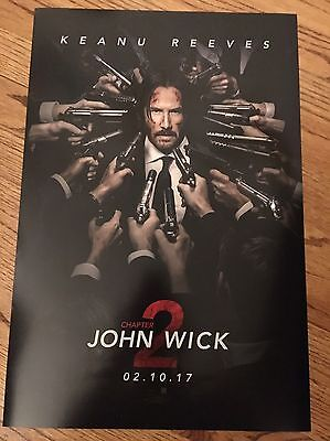 """JOHN WICK Chapter 2 13 1/2"""" X 20"""" MINI MOVIE POSTER COLLECTIBLE"""