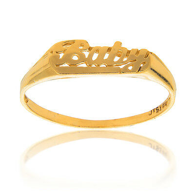 14k Solid Yellow Gold Baby Kids Children Ring SZ 2.5