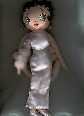 "Betty Boop 12"" Stuffed Doll Evening Gown Betty Boop 2002 Exc."