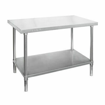 Prep Bench w Undershelf, Full Stainless Steel 900x600x900mm, Commercial Kitchen