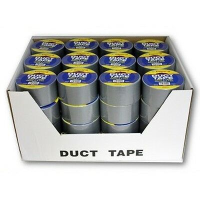 """Lot of 48 Rolls Wholesale 1.89"""" Silver Gray Duct Tape FREE SHIPPING!"""