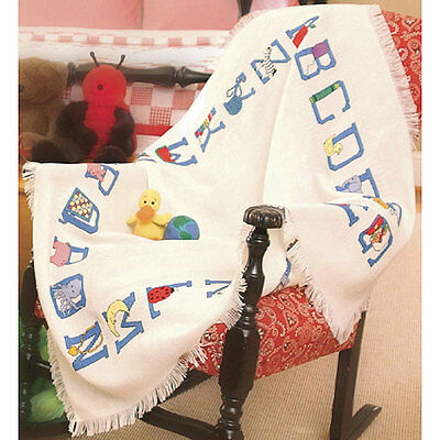 Baby Alphabet Afghan Cross Stitch Kit