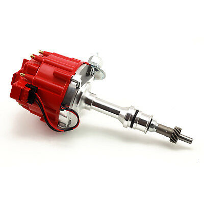 fits Ford SB 289 302 Windsor 65K Coil HEI Electronic Distributor - Red Cap