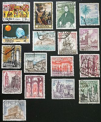 SPAIN   Nice lot of 17 different Commemoratives STAMPS   used