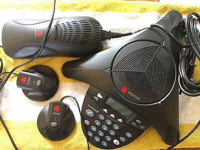 Polycom SoundStation 2 Conference Phone System With 2 Remote Microphones