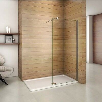Aica Wet Room Tall Shower Screen Enclosure 8mm NANO Glass Cubicle Panel