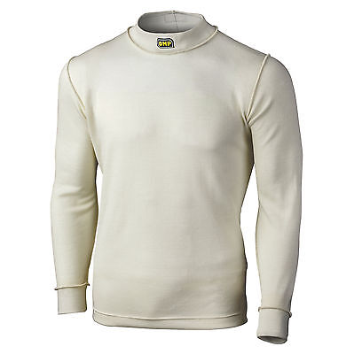 OMP First Range Long Sleeve FIA Approved Nomex Top - Race/Racing/Rally - White