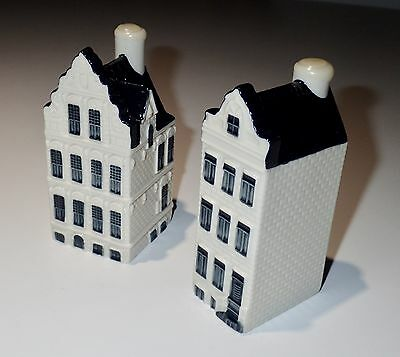 2 Miniatures Blue Delft's For Klm Amsterdam 1575 . 2016