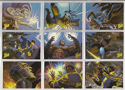 1996 Fleer Ultra X-Men: Wolverine HOLOFLASH Chase/Insert 9-Card Set NM/Mint