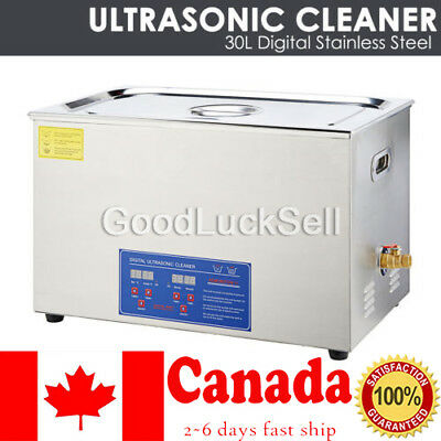Stainless Steel 30L Liter Industry Heated Ultrasonic Cleaner Heater w/Timer CAN