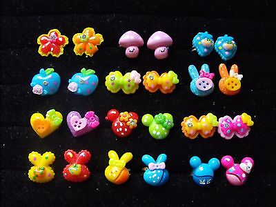 Wholesale Job Lot 24 Childrens Adjustable Rings, Party Bags, Gifts.