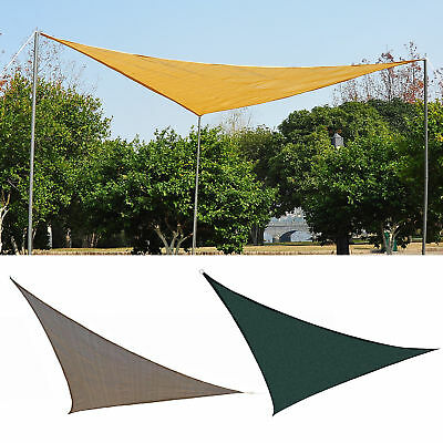 Triangle 10' Canopy Sun Sail Shade Garden Cover Lower Temperature Party Outdoor