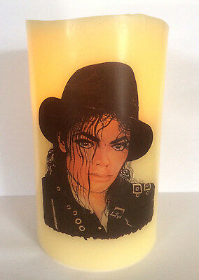 MICHAEL JACKSON  ELECTRONIC FLAMELESS FLICKERING CANDLE d3