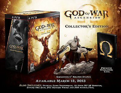God of War Ascension Collectors edition PS3 USA NEW SEALED collector's