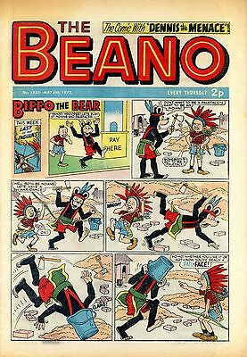 Beano comics, May 6th. to May 27th. 1972, 4 copies, 45th. birthday present