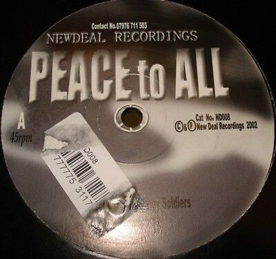Hackney Soldiers Peace To All Vinyl Single 12inch New Deal Recordings