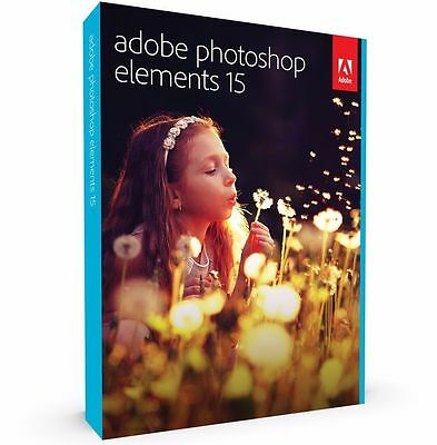 Adobe Photoshop Elements 15 for Windows & Mac DISC INCLUDED  ✔EXP POST✔