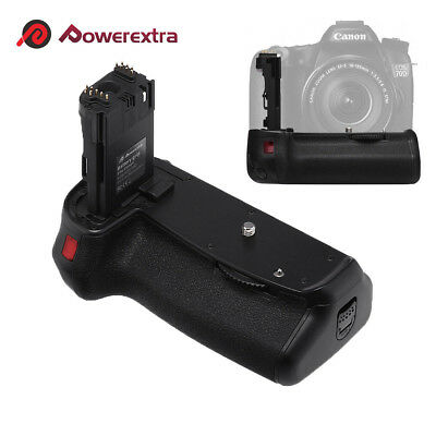 BG-E14 Vertical Battery Holder Grip for Canon EOS 70D 80D Camera + IR Remote