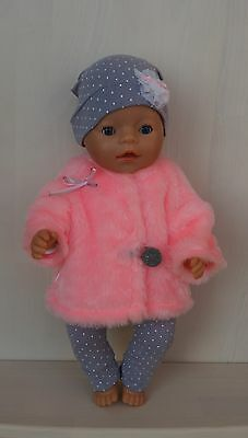 Hand made fur coat for Baby Born or other doll till 43 cm (17 inch)
