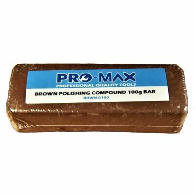 Pro-Max 100g Bar Brown Aluminium Alloy Brass Metal Polishing Buffing Compound