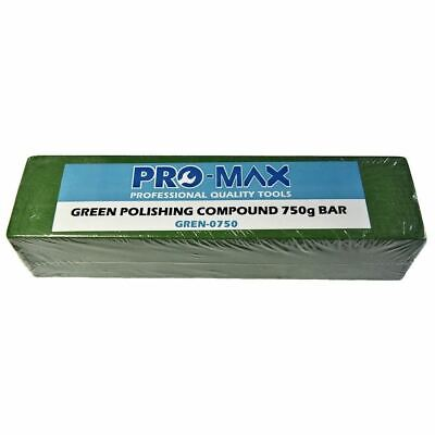 Pro-Max 750g Bar Green Steel & Stainless Steel Metal Polishing Buffing Compound
