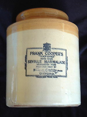 Frank Coopers Seville Marmalade, 2 Tone, Excellent Condition.