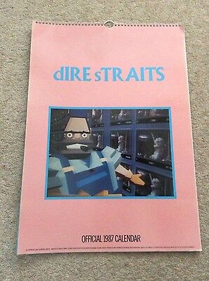 Dire Straits official 1987 Wall Calendar. Very Good condition.