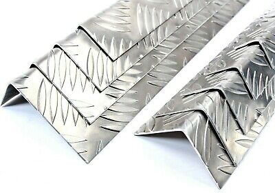 Chequer Plate Folded Angle Corner Protector - 10 Sizes & 13 Lengths Available