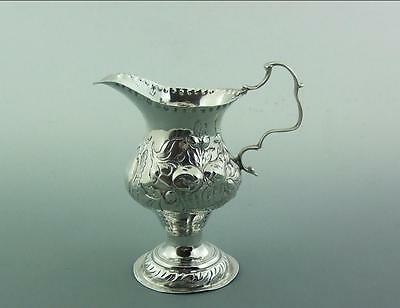 ANTIQUE GEORGIAN SILVER CREAM JUG 1778 Thomas Shepherd