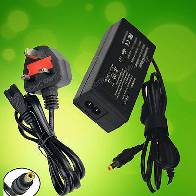 12V 4A 3A FOR TFT LCD Monitor Adapter Charger Power Supply UK SHIPPING + CORD