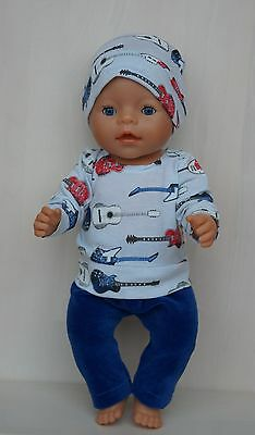 Hand made clothes set for Baby Born boy or other doll till 43 cm (17 inch)