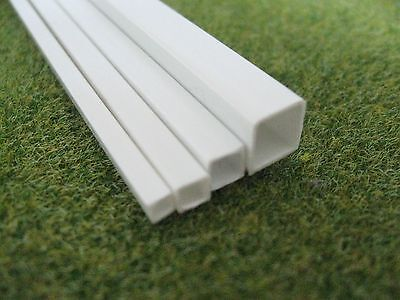Square Tube Styrene ABS Strip Section Architecture Model Making 3mm - 10mm size