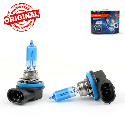 2 X H9 OSRAM 5000K Cool Blue Hyper+ Plus 65W White Light Halogen Bulb Globe AU