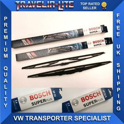 "For VW T5 Transporter 03 - 12 Windscreen Wipers Bosch Super Plus 24"" Twin Pack"