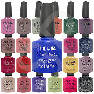 CND Shellac UV Nail Polish Choose from 136 Colours, Base or Top - 100% AUTHENTIC