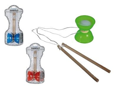 New Diabolo With Light Juggling Spinning Kit Outdoor Kids Toy Fun BLUE/RED/GREEN