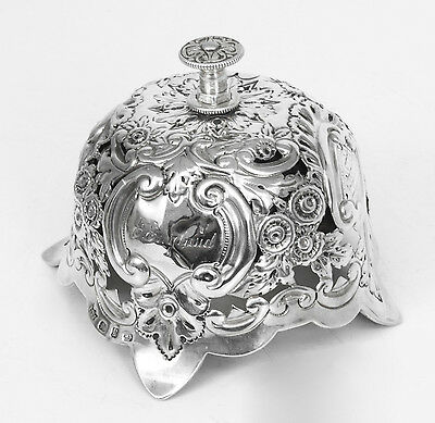 Antique Victorian Sterling Silver Call Bell, Birmingham 1898