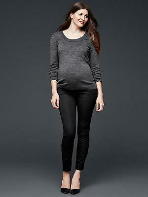 New Gap Maternity Bi-Stretch Full PANEL ultra skinny Size 00 Black 696168