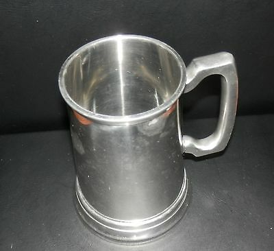 Vintage Pewter Beer Stein With Glass Bottom