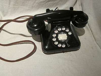 Leich Electric Small Bakelite Desk Telephone