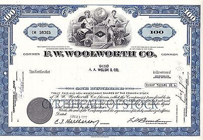 F.W.Woolworth Co.-100 shares v.1972