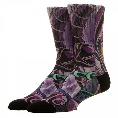 Yu-Gi-Oh Dark Magician Knight Sublimated Crew Socks Cartoon All Over Print Logo