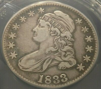 1833 Capped Bust Half Dollar ANACS VF-35 details-cleaned