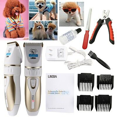 Professional Mute Pet Cat Dog Hair Cordless Clipper/Trimmer/Shaver Accessory Kit